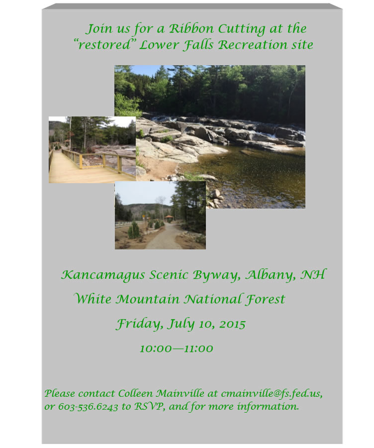 Invitation to Lower Falls reopening